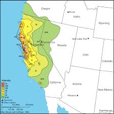 us geological earthquake map california earthquake map collection