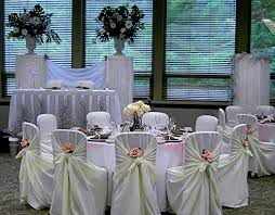 rent chair covers black table linens and white chair covers with satin sahses cheap