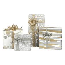 gold gift wrap via crate barrel seen on paper crave wrapper s delight