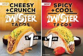 taco bell testing 2wister tacos brand