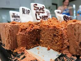 graveyard halloween cakes graveyard cake halloween recipe a picture plus a thousand words
