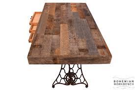 reclaimed wood desk bohemian workbench