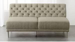 savile grey tufted armless sofa cb2