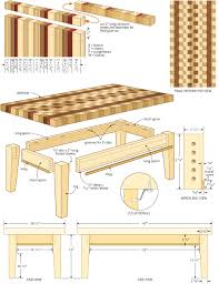coffee table building plans end grain coffee table canadian home workshop