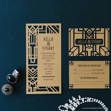 gatsby wedding invitations great gatsby dl invitation classic wedding invitations