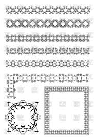 ornamental rulelines corners and frames with decorative border