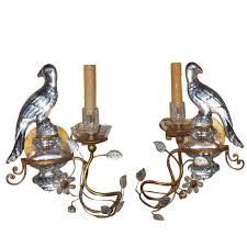 Vintage Sconces Wonderful Pair Of Bagues Style Vintage Gilt And Crystal Bird