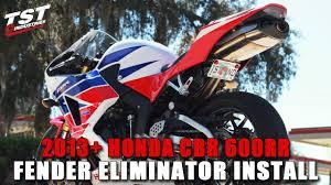 cbr 600 re how to honda cbr 600rr 2013 2016 fender eliminator installation