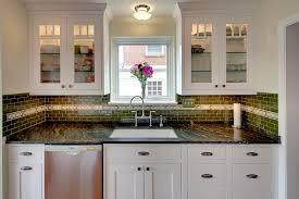 Shaker Style White Cabinets Butterfly Green Granite Kitchen Traditional With White Cabinets
