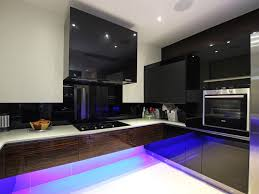 High Black Gloss Kitchens Fusion High Gloss Black Amp High - Black lacquer kitchen cabinets