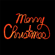 merry rope light rope light merry sign