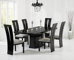 como 200cm black marble dining table style our home