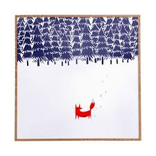 shop deny designs winter scene wall art at lowes com