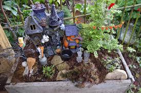 Pinterest Fairy Gardens Ideas by Plumrun Creek Halloween Fairy Garden And A Pumpkin Rug