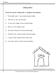 linking and helping verbs worksheet 28 templates parts speech