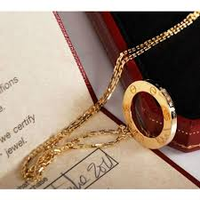 cartier yellow gold necklace images Replica cartier love pendant yellow gold necklace b7014200 jpg