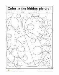 hidden bug numbers worksheets number worksheets