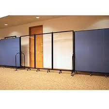 screenflex clear acrylic room divider 1 panel 3 u00274