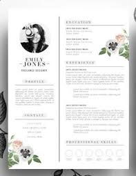 Editable Resume Template Resume Template Cv Template Editable In Ms Word And By Cvdesignco