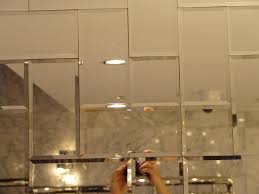 Mirror Bathroom Tiles Awesome Antique Mirror Tiles Mirror Ideas Ideas For Install