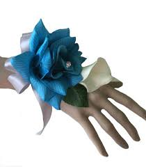 Turquoise Corsage Colorful Artificial Flower Wedding Bouquet Corsage Turquoise Blue