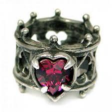 elizabethan gothic pewter ring