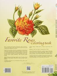 favorite roses coloring book dover nature coloring book ilil