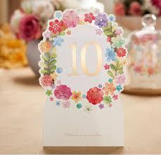 Wedding Table Cards Aliexpress Com Buy Wedding Table Card Elegant Laser Cut White