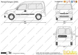 renault van kangoo the blueprints com vector drawing renault kangoo