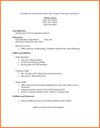 Example Of Resumes by Resume Templates For No Experience