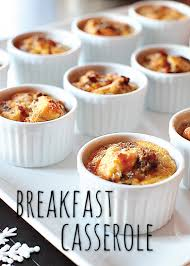 christmas breakfast brunch recipes breakfast casserole baked in 3oz mini ramekins found here http