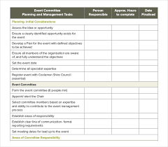 Event Planning Checklist Template Excel Event Order Template 11 Free Excel Pdf Documents