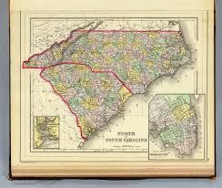 North Carolina Map With Cities N U0026 S Carolina David Rumsey Historical Map Collection