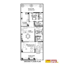 sq ft to sq m house plan for 30 feet by 75 plot size 250 square yards small