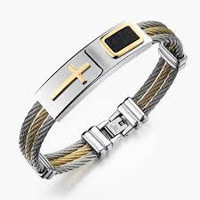 cross bracelet charm images 2017 premium gold stainless steel cross bracelet jpg