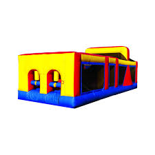 inflatable 30 u0027 backyard obstacle course 1