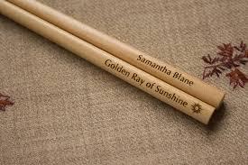 engraved chopsticks custom engraved chopsticks light wood