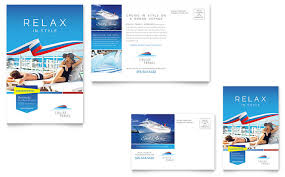 cruise travel gift certificate template design