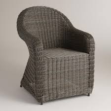 World Market Outdoor Chairs by Finished In Distressed Gray For A Natural Wicker Look This