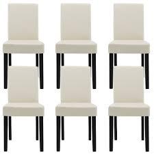 Lederst Le Esszimmer Ebay En Casa Esstisch 160x90 Eiche Weiss 6 Stühle Creme Esszimmer