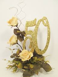 50th anniversary centerpieces 50th anniversary centerpiece with roses or other year designs by