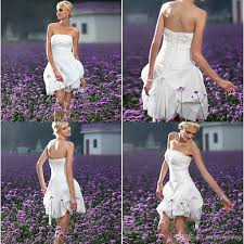 discount lq most beautiful strapless 2014 short country wedding