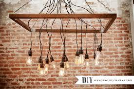 Diy Hanging Light Fixtures Diy Hanging Lightbulbs Ruffled