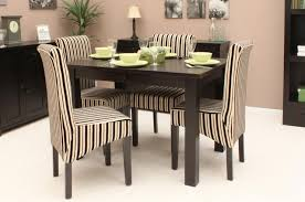 Small Kitchen Sets Furniture Dining Room Unique Retro Dining Room With Striped Dining Chairs