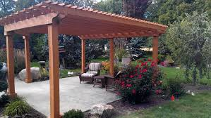 Japanese Style Pergola by Exterior Design Pergola Plans In Cream Brown And White Color