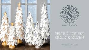 Silver And Gold Holiday Decorations Christmas Tree Craft Diy Felt Project Apostrophe S Felted