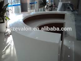 Portable Reception Desk with White Acrylic Restaurant Reception Desk Portable Artificial Stone