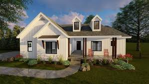 Modern Farmhouse Ranch Copperden Plan Front Farmhouse House Plans And Modern Farmhouse