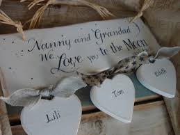 grandparent plaques nanny s a handmade personalised shabby chic wooden