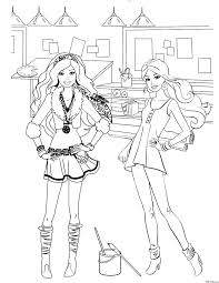 52 coloring pages images drawing barbie